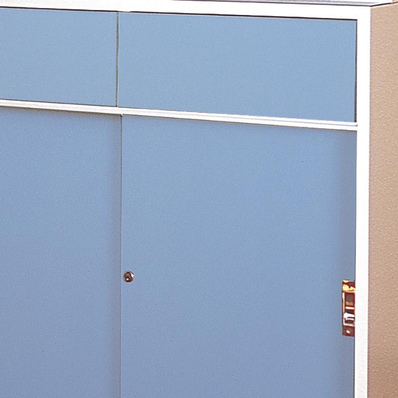 木製薬品戸棚ブルー