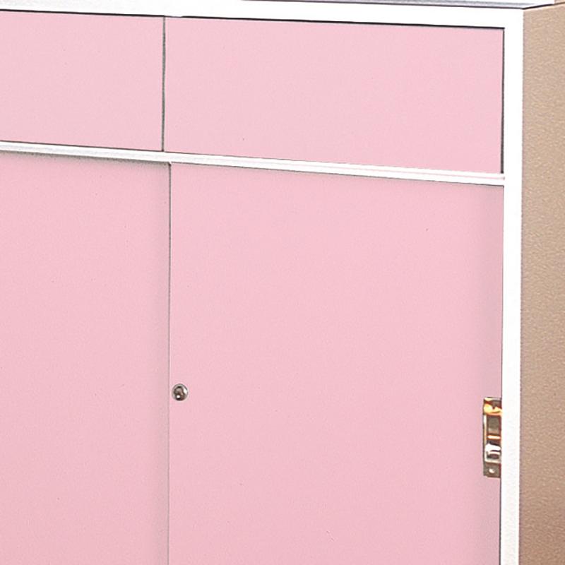 木製薬品戸棚ピンク