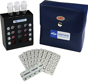DPD法簡易型遊離残留塩素測定器(錠剤タイプ)
